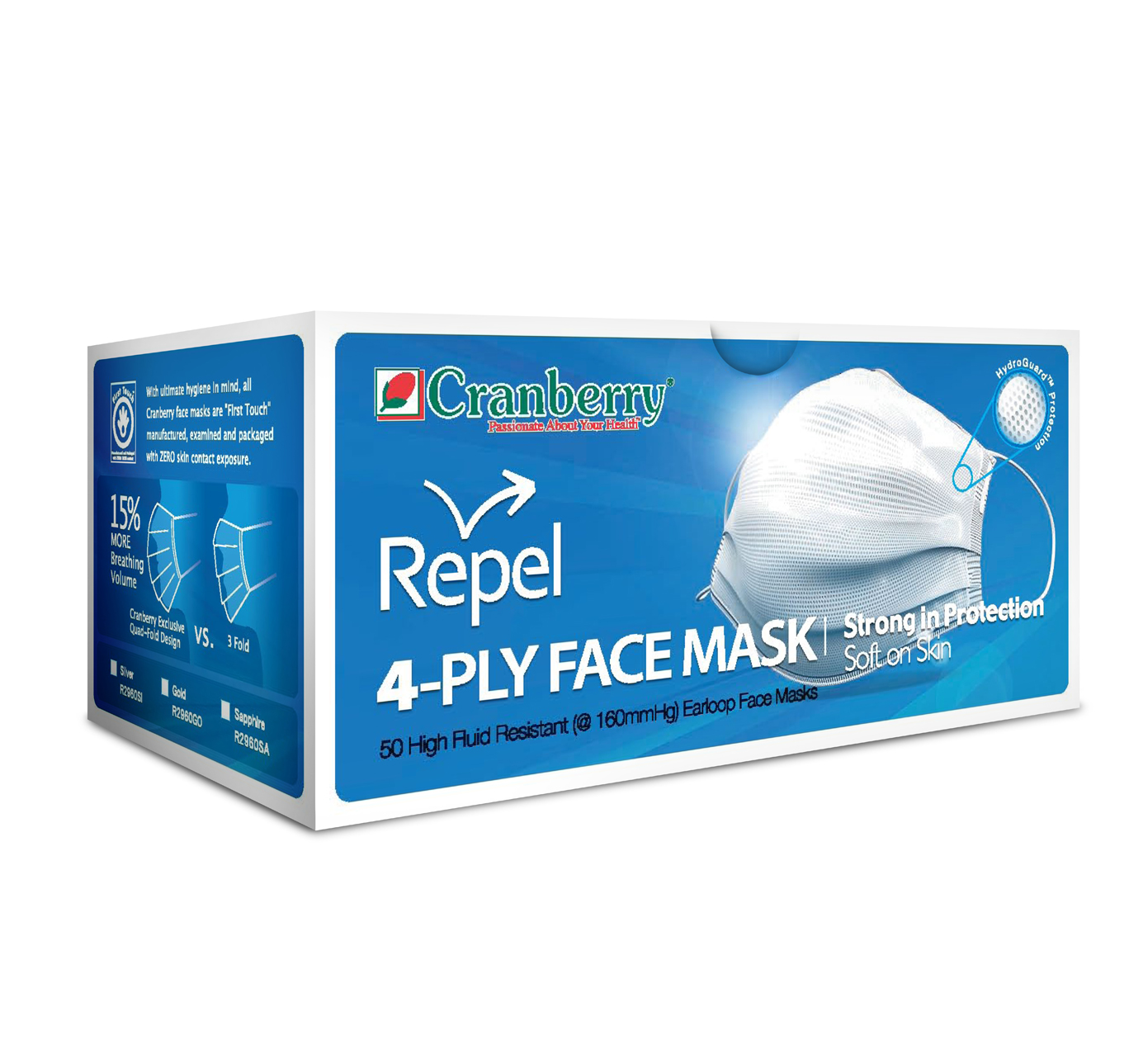 Cranberry Repel 4-Ply Face Mask-0