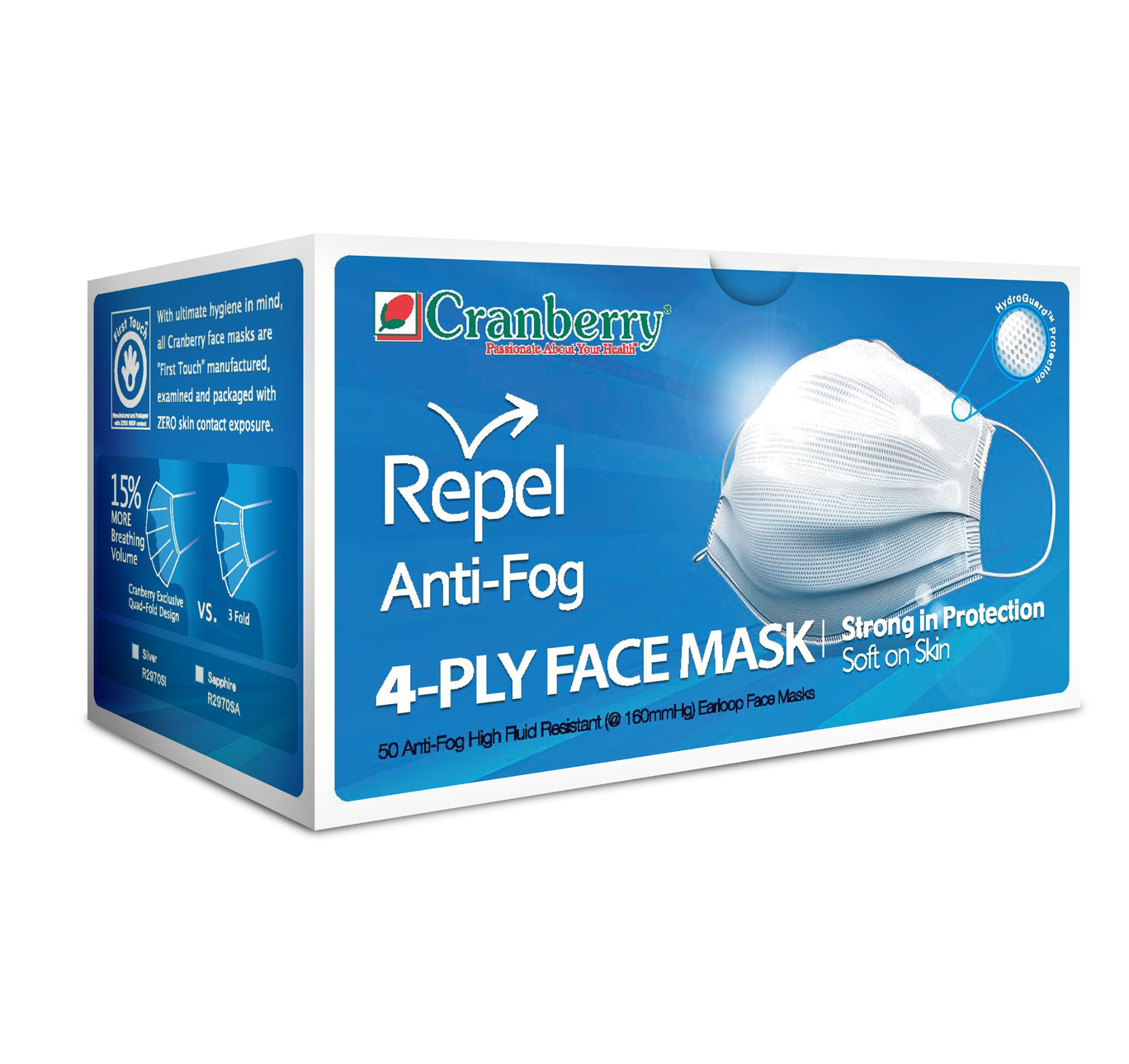Cranberry Repel Anti-Fog 4-Ply Face Mask-0