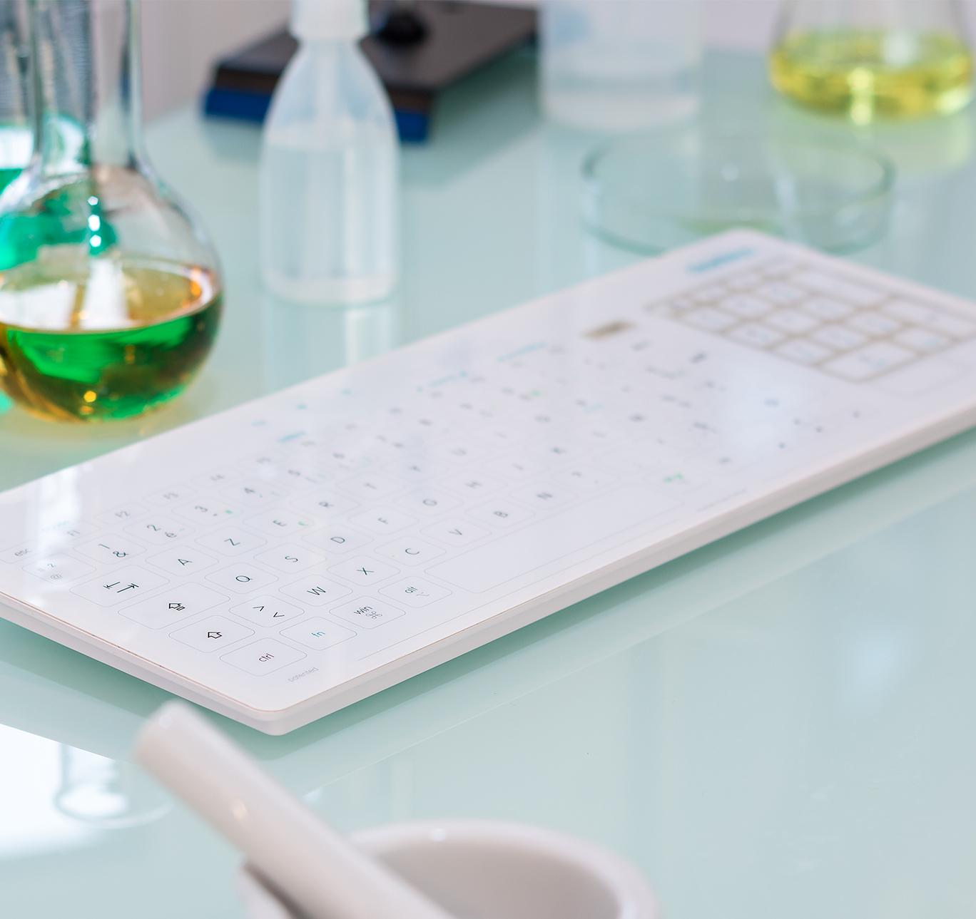 Cleankeys Wireless Glass Surface Keyboard-3380