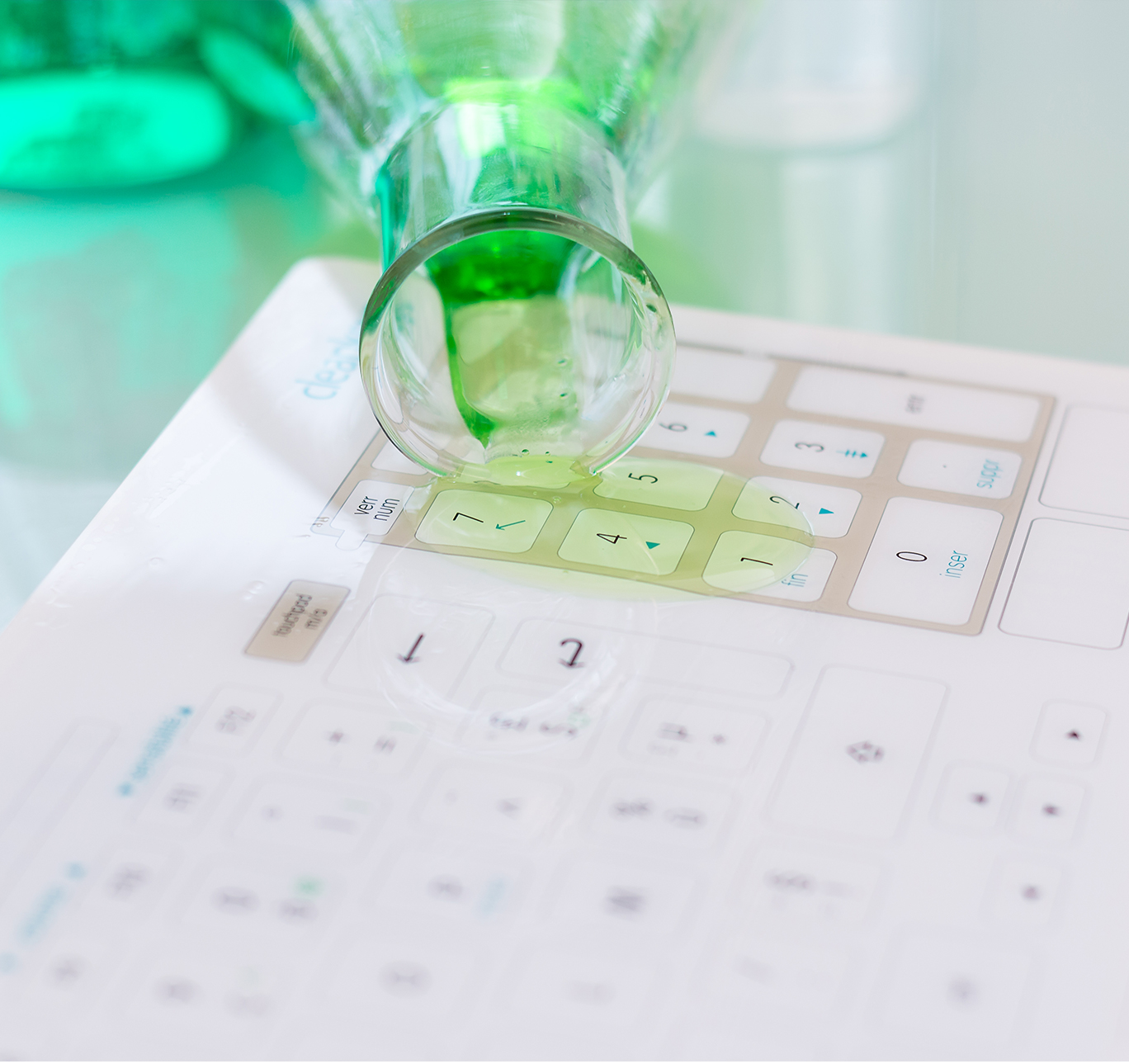 Cleankeys Standard Glass Surface Keyboard-3374