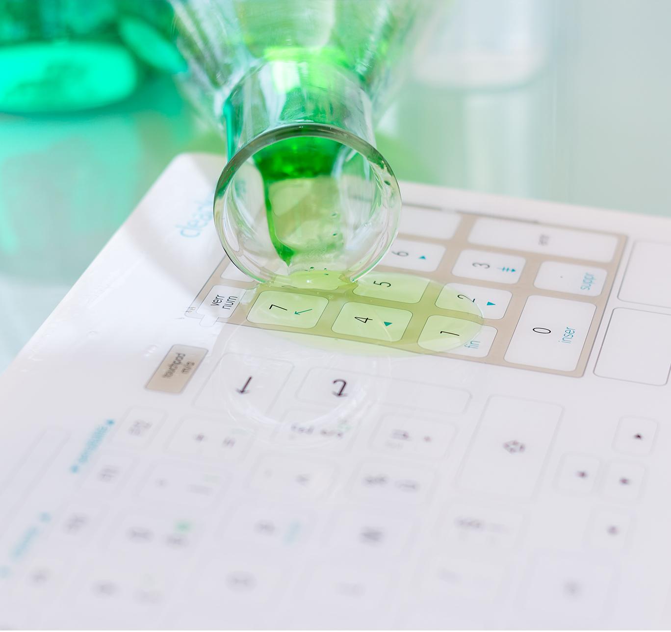 Cleankeys Wireless Glass Surface Keyboard-3379
