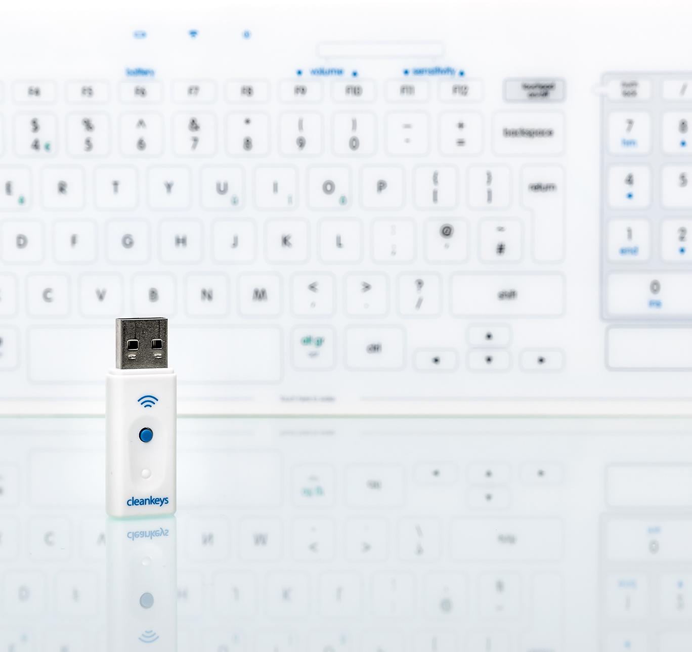 Cleankeys Wireless Glass Surface Keyboard-3378