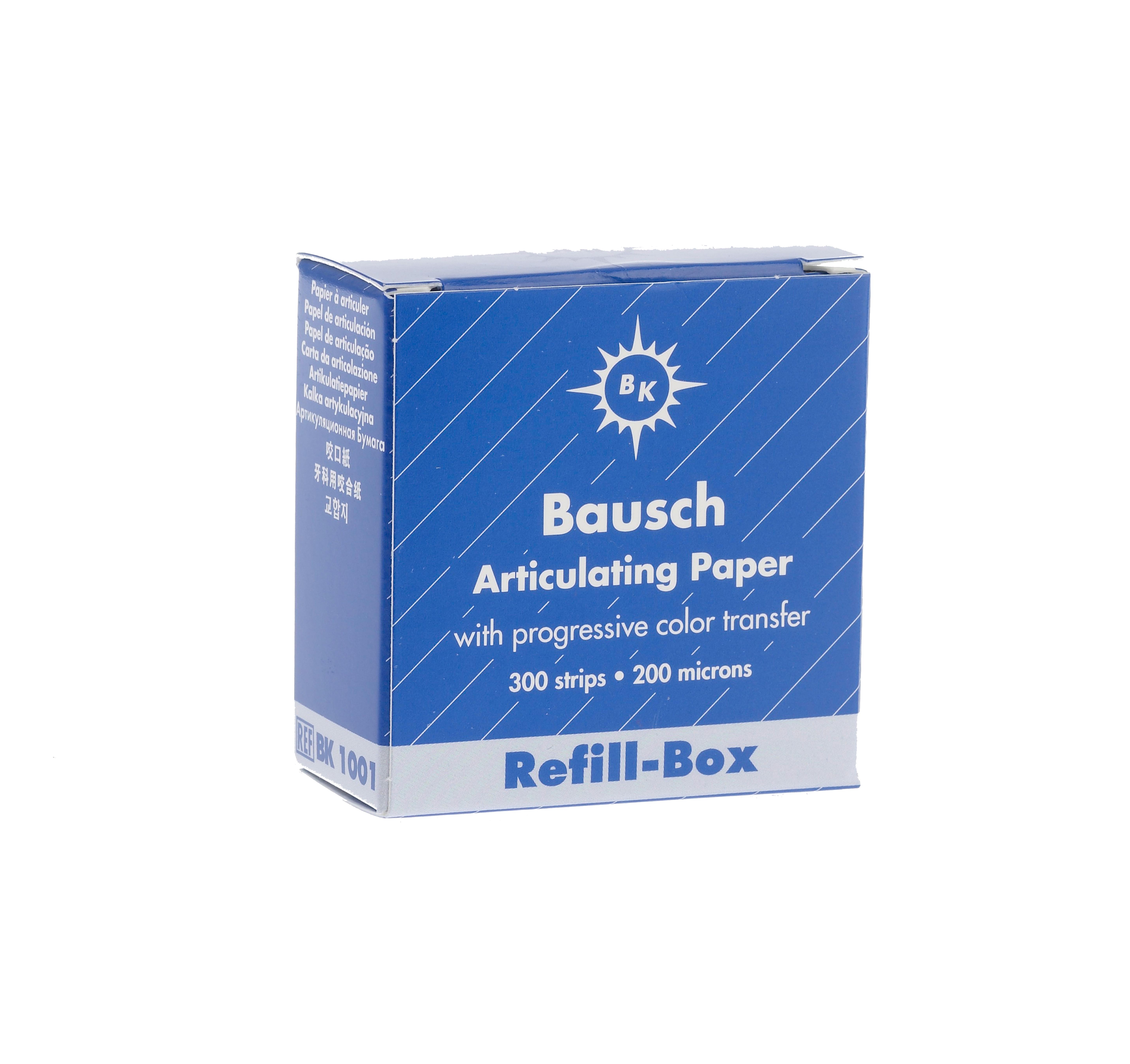 Bausch 200u Articulating Paper (Blue)-0